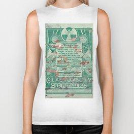 Distressed Glastonbury 1982 Poster Biker Tank