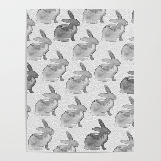 Watercolor Bunnies 1N by Kathy Morton Stanion by kathymortonstanion