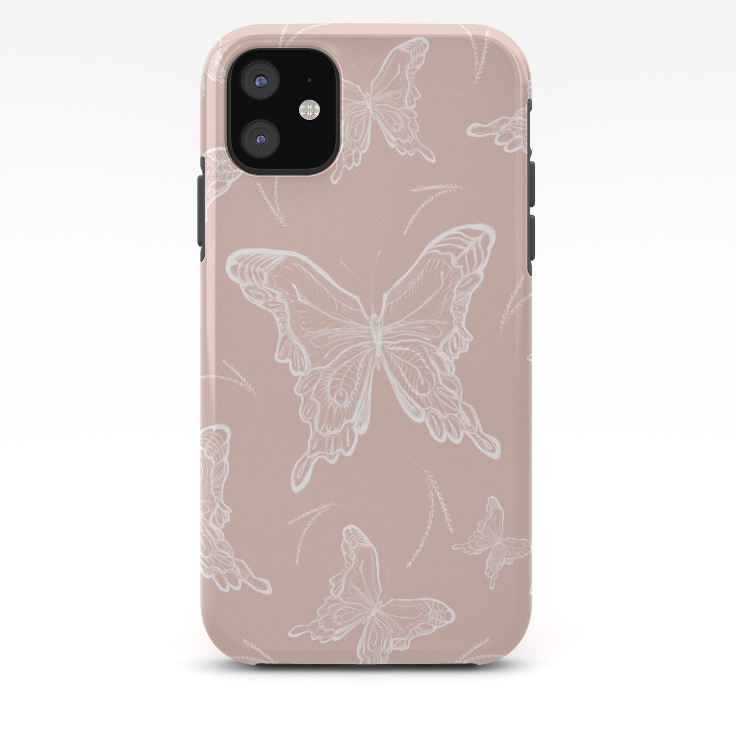 butterflies on peach background iphone case by gretadarets society6 society6