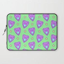 Planchette Pattern on Green Laptop Sleeve