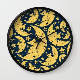 Happy halloween  moon pattern Wall Clock