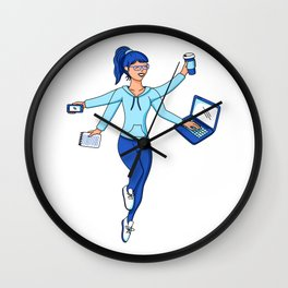 Super Freelance Woman Wall Clock