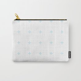 PLUS ((baby blue on white)) Carry-All Pouch