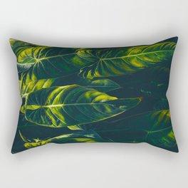 Alien Leaves Rectangular Pillow