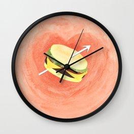Hamburger love Wall Clock