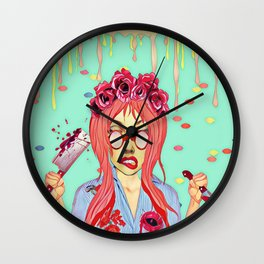 Girl and the blood Wall Clock