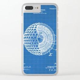 Golf Ball Patent - Golfer Art - Blueprint Clear iPhone Case