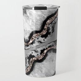 Yin Yang Agate Glitter Glam #9 #gem #decor #art #society6 Travel Mug