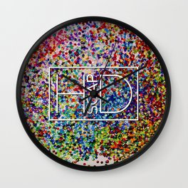 Logo on Sequins Wall Clock