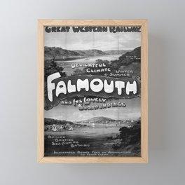 retro retro GWR Falmouth poster Framed Mini Art Print
