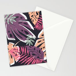 Summer Party Abstract Tropical Leaves Stationery Cards