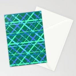 Mesh Pattern with Ocean Based Colors Stationery Cards