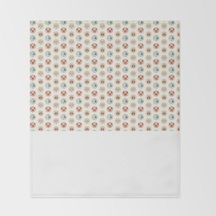Circle Pup Pattern Throw Blanket
