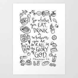 Eat & Drink for His Glory Art Print