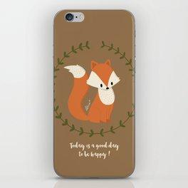 Renard roux // Red fox iPhone Skin