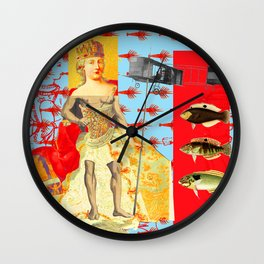 THE SHOWY PLANE HUNTER AND FISH III Wall Clock