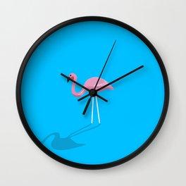 Mr. Flamingo Wall Clock