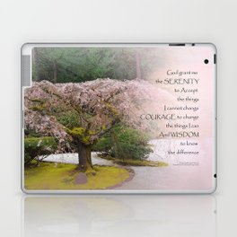 Serenity Prayer Cherry Tree One Laptop & iPad Skin