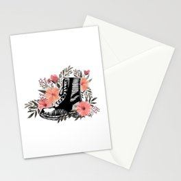 Just A Woman Wore Combat Boots Veteran Stationery Cards