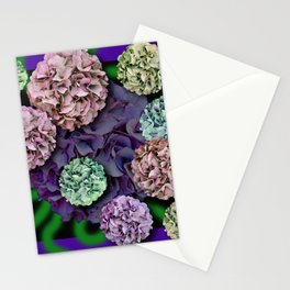 HYDRANGEAS FADING ABSTRACT BOUQUET  Stationery Cards