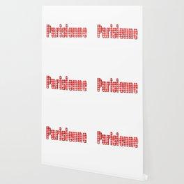 Parisienne Gingham Word Wallpaper