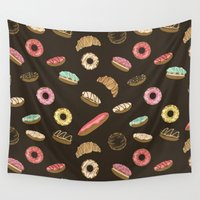 donuts Wall Tapestries featuring Donuts by Julia Badeeva