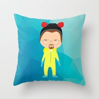 walter white Throw Pillows featuring Walter White by Creo tu mundo