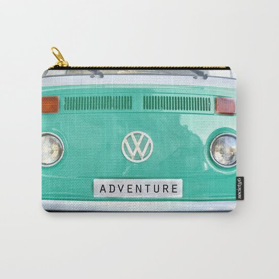 Adventure wolkswagen. Summer dreams. Green Carry-All Pouch