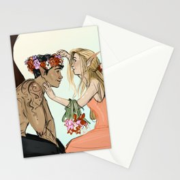 The Darkness and the Flower Stationery Cards