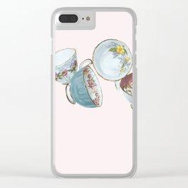 Dancing Queens in Pink Clear iPhone Case