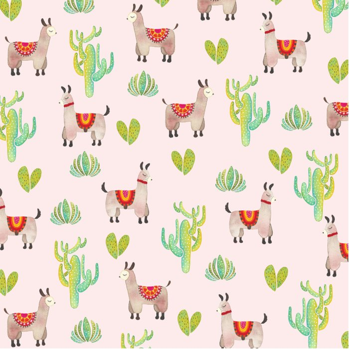 Cute alpacas with pink background Comforters