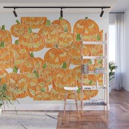 Jack-O-Lanterns Watercolor Wall Mural