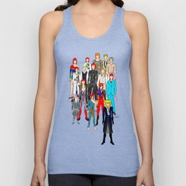 Heroes Doodle Square Unisex Tank Top