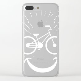Bike Smile Love Cycling Design Printed designs Clear iPhone Case