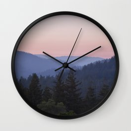 Sunset in the Santa Cruz Mountains Wall Clock