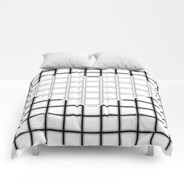 Geometric Heart (White) Comforters
