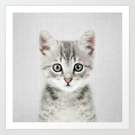 Kitten - Colorful Art Print