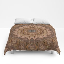 peace on earth in leather Comforters