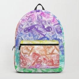 Crystal Gemstone Background Pattern - Geodes + Quartz Points Backpack