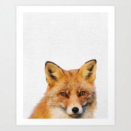 Fox Wall Art Print, Woodland Nursery, Printable Digital Download, Animal decor, Babies Room Poster, Art Print