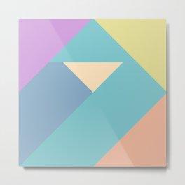 colorful triangular pastel background Metal Print