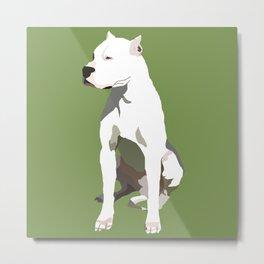 Minimalistic Dogo Metal Print