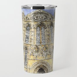 York Minster Cathedral Snow Art Travel Mug