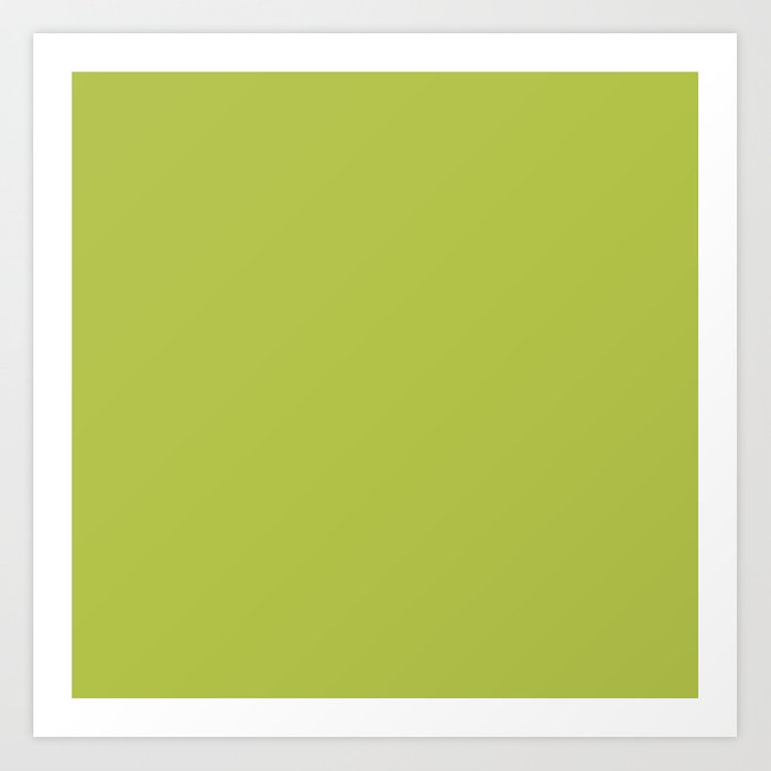 Simple Solid Color Avocado Green All Over Print Art
