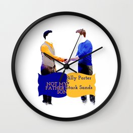 Not My Father's Son Wall Clock