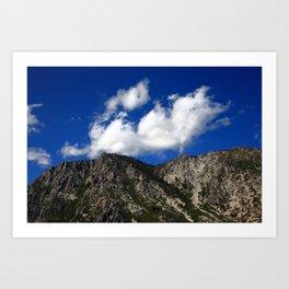 Mountainside near Lake Tahoe 2008 Art Print