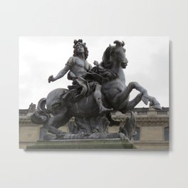 "Statue of ""Louie the XIV"" Metal Print"
