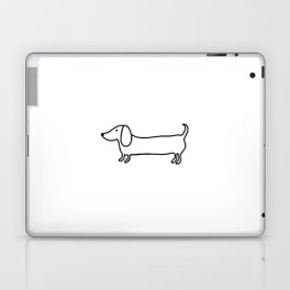 Simple dachshund black drawing Laptop & iPad Skin