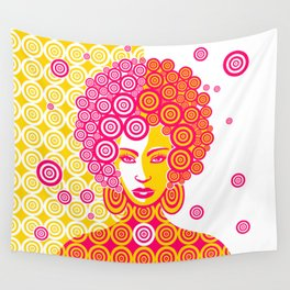 Psychedelic Girl Wall Tapestry