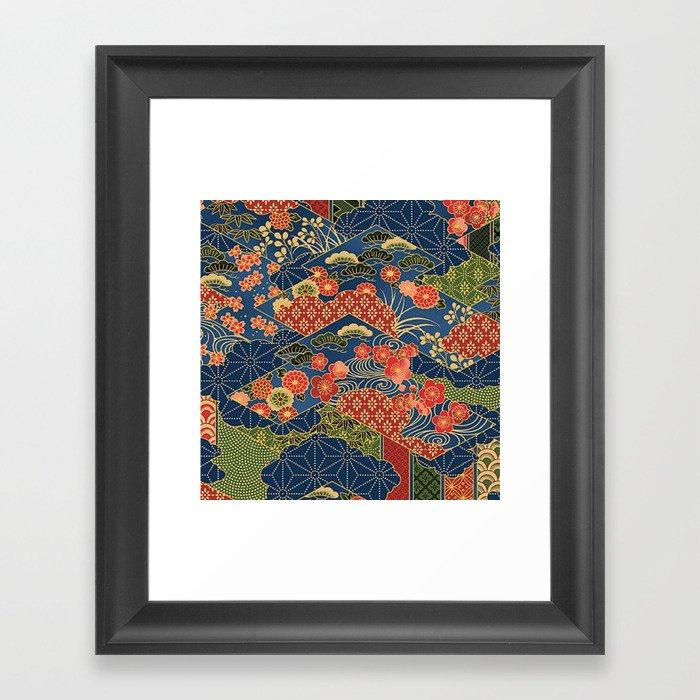 Japan Quilt Gerahmter Kunstdruck